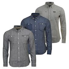 Mens Firetrap Denim Long Sleeve Shirt Rotary Printed Top