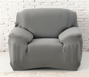 1 2 3 4 Seater Stretch Slipcover Chair Loveseat Sofa Couch Solid Elastic Cover