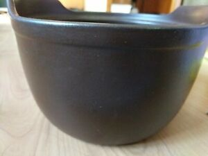 "Pompeii Norway Handcrafted 9"" Brown Stoneware Bowl 12400,  casserole"