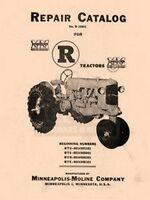 Minneapolis Moline R RTU RTS RTN RTE Repair Manual Cat