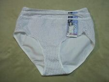 Jockey Womens White With Dots Hipsters Panties Briefs  Size 5 (Quantity 3)  NEW