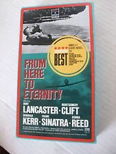 FROM HERE TO ETERNITY, BURT LANCASTER, MONTGOMERY CLIFT, FRANK SINITRA, VHS,