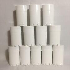 Deodorant Tubes 2oz 57g White Oval Twist Up Salve DIY Balm Empty Bulk Lot of 12