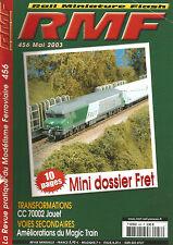 RMF N° 456 CC 70002 JOUEF / AMELIORATION DU MAGIC TRAIN / MINI DOSSIER FRET