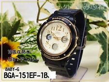 BGA-151EF-1B Black Casio Baby-G Ladies Watches Analog Digital Neon Packy Resin