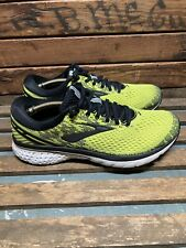 Brooks Ghost 11 Men's Athletic Running Shoes Sneakers Neon Yellow Size 9.5