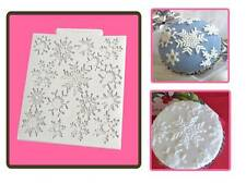 Katy Sue Snowflakes Design Texture Mat Sugarcraft Mould Christmas or Frozen Cake