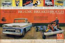 1960 GMC PRINT AD Trucks Chassis and Engine view