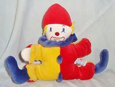 Doudou Hochet Pouet Clown Sucre d'Orge Velours Multicolore (17x22cm)