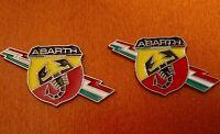 2pcs set ABARTH  LIGHTNING LOGO (FIAT) 3D metal grill fender emblem decal