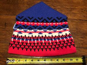 Vintage CB SPORTS Knit 100% Wool Winter Hat Ski Beanie Snowboard 90s 1990s