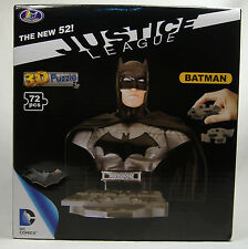 BATMAN NEW 52 3-D PUZZLE BUST DC COMICS JUSTICE LEAGUE UNIVERSE MISB 2014 RARE