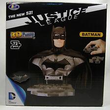 BATMAN NEW 52 3-D PUZZLE BUST DC COMICS JUSTICE LEAGUE UNIVERSE MISB 2014 RARE