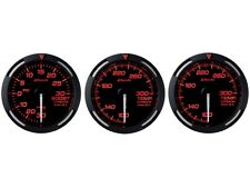 DEFI RED RACER 52MM 3 GAUGES SET (TURBO BOOST/OIL TEMPERATURE/WATER TEMP)