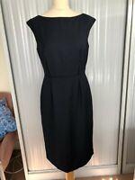 NWT £198 J.Crew 100 % 120s wool pencil dress sheath. Navy. US 8