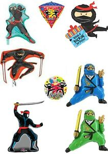 Ninja Helium Or Air Foil Balloons Party Ware Decoration Novelty Gift Birthday