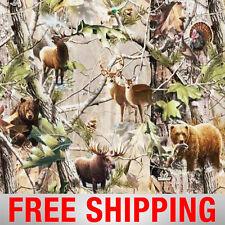 "Fleece Fabric Hunting Deer Bear Moose Duck RealTree 60"" Wide Free Shipping 1417"