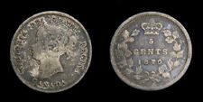 Canada 1870 Queen Victoria 5 Cents Toned F-15
