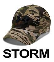 UNDER ARMOUR UA STORM CAMO STRETCH FIT CAP FOREST UPDATED HEATGEAR 1318532-940