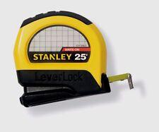 New Stanley LeverLock Tape Rule 1 in. W x 25 ft. L STHT30825