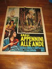 manifesto,ab2, Dagli Appennini alle Ande,1951,LEDA GLORIA CALZAVARA BASEGGIO