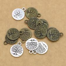 20Ps Silver Tree of Life Charm Pendant Jewelry Making Bracelet Earrings DIY