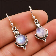1 Pair Woman Vintage 925 Silver Jewelry Opal Charm Earring Pendant NEW  ~~!
