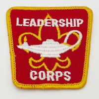 Vintage Boy Scout Leadership Corps Boy Scout Patch Red with Yellow Trim BSA
