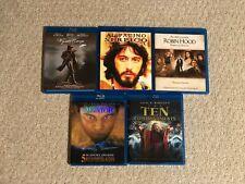 BluRay Lot: Wyatt Earp, Serpico, Robin Hood, Aviator, Ten Commandments (2 Disc)