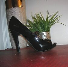 MICHAEL Michael Kors Chandler Black Patent Leather Mary Jane Heel Shoes 7 new