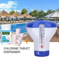 Pool Cleaning Tablet 100Tablets+Floating Chlorine Hot Tub Chemical Dispenser FR