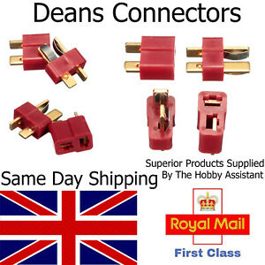 Deans Style T Plug Male Female Pair Connector RC LIPO Battery Hobby Set UK Lipo