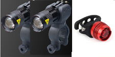 two pieces front & rear LED bike lights set for road mountain cycling bicycle