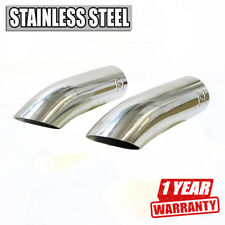 2 x Car Exhaust Tip Muffler Trim Pipe Stainless Steel For Audi A6 A8 1997 2003