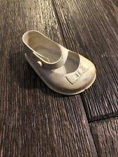 """Vintage IDEAL Toy Corporation White Mary Jane Doll Shoe Replacement 3"""""""