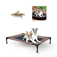 Large Portable Dog Bed Indoor Outdoor Pet Cot Travel Camping Holds 150lbs New