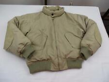 NAUTICA Mens Tan Duck Down Puffer Ski Jacket Coat Sz Medium Elbow Patches Winter