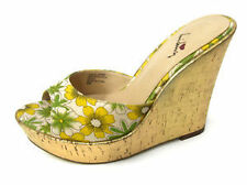 Women's Floral Patterned Wedge Heels