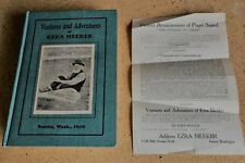 SIGNED Ventures and Adventures of Ezra Meeker, 1909, true first ed. VG, RARE!