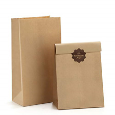 100 Pcs Paper Lunch Bags Snack And Bread Bags Brown Kraft Paper 100% Recycled Us