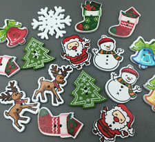 150X Christmas Shaped Wooden Buttons Sewing Mixed Variety Pack Sewing Scrapbook