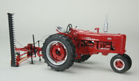 Case IH Farmall 300 Narrow Front Tractor w/ Sickle Mower 1:16 SpecCast ZJD1803 *