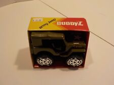 """Vintage 1980s Die Cast BUDDY L US ARMY JEEP New in Box 5"""""""