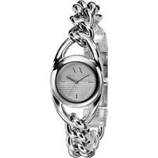 NEW-ARMANI EXCHANGE SILVER TONE STAINLESS STEEL CHAIN LINK BRACELET WATCH AX3092