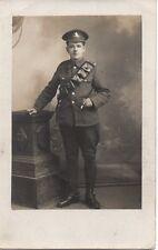 """Soldier with Ammunition Pouch,Studio Photograph"" Photograph Postcard"