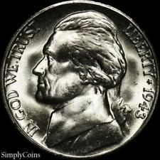 1943-S Jefferson Silver War Nickel ~ BU Uncirculated ~ LUSTER! US Coin