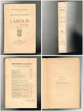 Les Disciplines de l´Amour - A.Wautier d´Aygalliers - Troisième mille - 1926 -