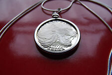 "King of the Jungle Lion Jewelry Pendant in Watching Profile 28"" Silver Necklace"