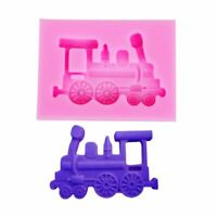 Train Shape Silicone Mold Cake Mould Baking Candy Jelly Chocolate Sugar Craft