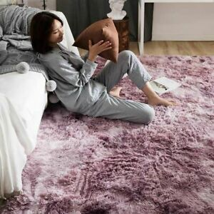 Bubble Kiss Soft Silk Carpets For Living Room Bedroom Rugs Home Tie Dye Gradient